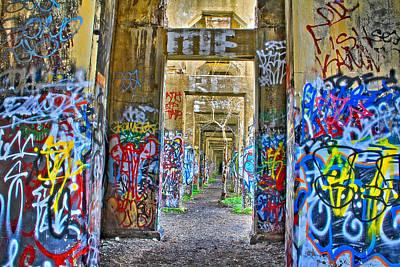 Grafiti Bridge To Nowhere Art Print