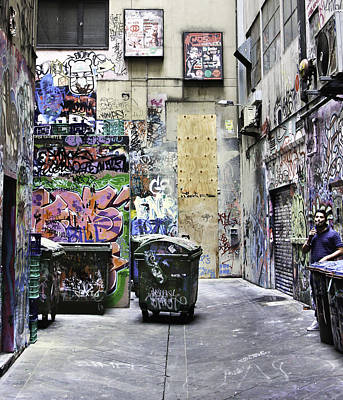 Grafitti Alley Art Print by Mark Coran