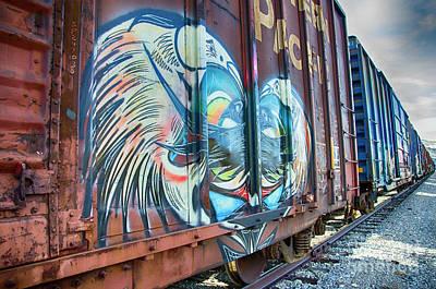 Grafitti Art Riding The Rails 11 Art Print