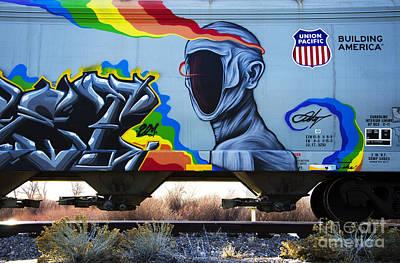 Grafitti Art Riding The Rails 2 Art Print by Bob Christopher