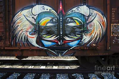 Grafitti Art Riding The Rails 3 Art Print