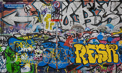Irish Photograph - Grafitti On The U2 Wall, Windmill Lane by Panoramic Images