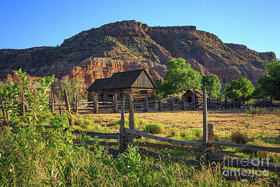 Photograph - Grafton Ghost Town Utah Old Barns by Edward Fielding