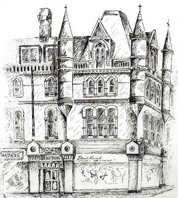Ireland Drawing - Grafton House Dublin by Alan Hogan