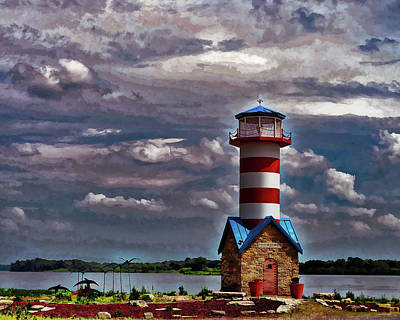 Photograph - Grafton, Il Lighthouse by John Freidenberg