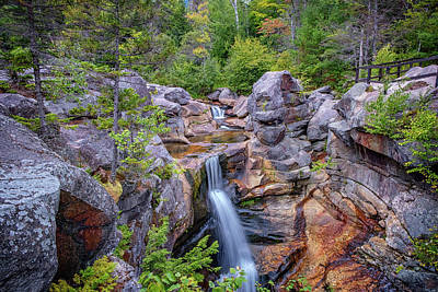 Photograph - Grafton Notch's Screw Auger Falls by Rick Berk