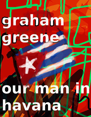 Latin Digital Art - Graham Greene Poster  by Paul Sutcliffe