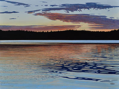 Art Print featuring the painting Graham Lake by Kenneth M Kirsch