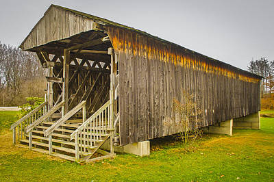 Photograph - Graham Rd Covered Bridge by Jack R Perry