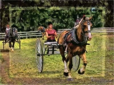 Manipulation Photograph - Grahamsville Ny Fair by EricaMaxine  Price