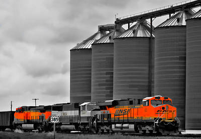 Photograph - Grain And Trains by Ginger Wakem