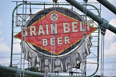 Photograph - Grain Belt Beer Sign by Larry Johnston