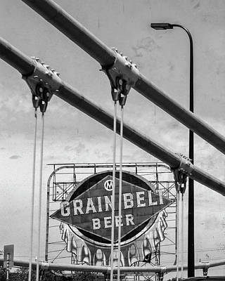 Photograph - Grain Belt Beer Sign by Susan Stone