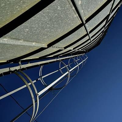 Photograph - Grain Bin Ladder by Jerry Sodorff