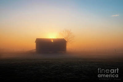 Photograph - Grain Building At Sunrise by David Arment