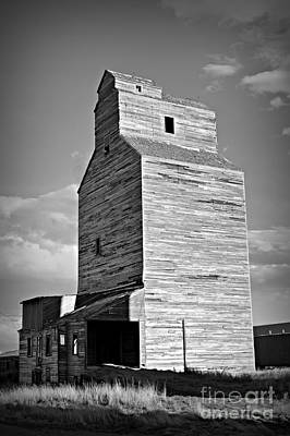 Photograph - Grain Elevator 2 Bw by Chalet Roome-Rigdon