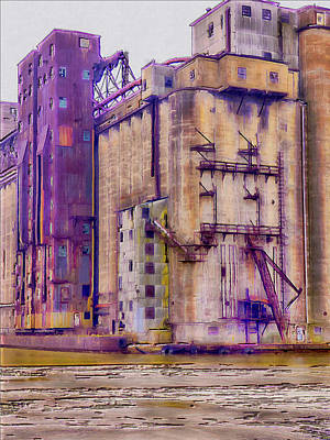 Digital Art - Grain Elevator - Buffalo Ny by Leslie Montgomery