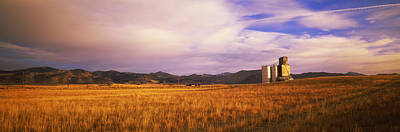 Prairie Landscape Photograph - Grain Elevator Fairfield Id by Panoramic Images