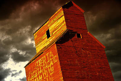 Photograph - Grain Elevator by Wayne Sherriff