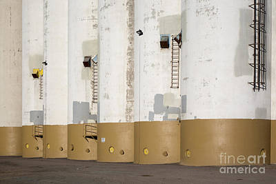 Photograph - Grain Elevators by Jim West