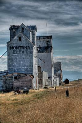 Photograph - Grain Elevators, Wilsall by Dave Rennie