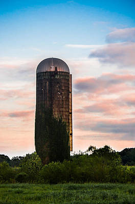 Photograph - Grain Silo At Sunset by Shelby Young