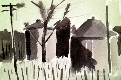 Painting - Grain Silos Amid The Wheat by Charlie Spear