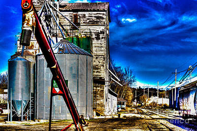 Photograph - Grain Storage by William Norton