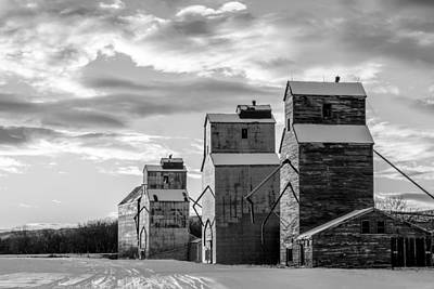 Country Snow Photograph - Grainery Row by Todd Klassy