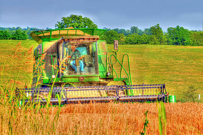 Bailing Hay Photograph - Grainman by Sam Davis Johnson