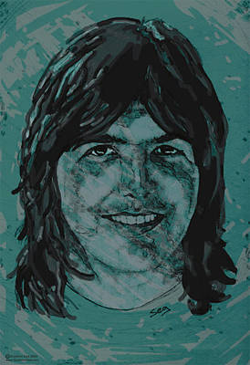Burritos Painting - Gram Parsons  by Suzanne Gee