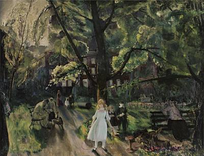 Gramercy Park Art Print by George Bellows