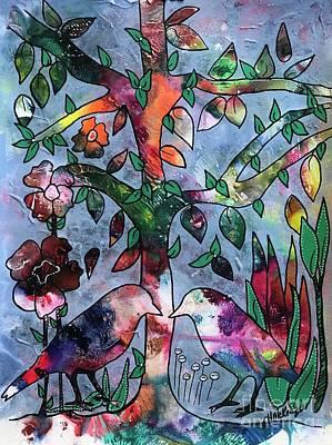 Painting - Gramma Birds by Heather McKenzie
