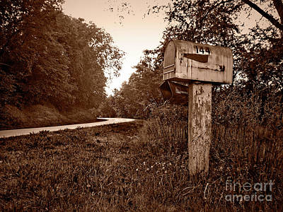 Photograph - Gramma's Mailbox by Jenness Asby