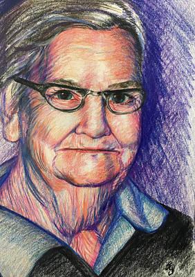 Drawing - Grammy Bradshaw by Susan Brooks