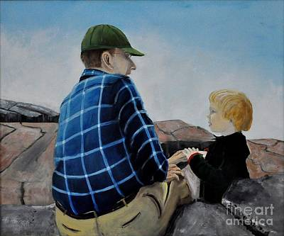 Painting - Grampa And Me by John Black