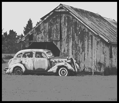 Photograph - Gramps Car by Dale Stillman