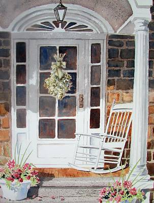 Painting - Gram's Rocker by Tony Caviston