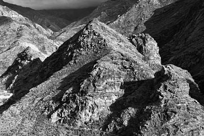 Photograph - Gran Canaria Mountains Monochrome by Marek Stepan