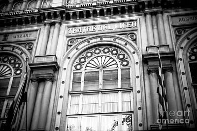 Photograph - Gran Teatre Del Liceu by John Rizzuto