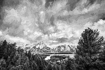 Teton Digital Art - Gran Treetons IIi by Jon Glaser
