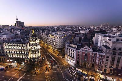 Arte Urbano Photograph - Gran Via Of Madrid, Spain by David Ortega Baglietto