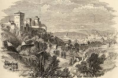 Manning Drawing - Granada And The Alhambra Spain From The by Vintage Design Pics