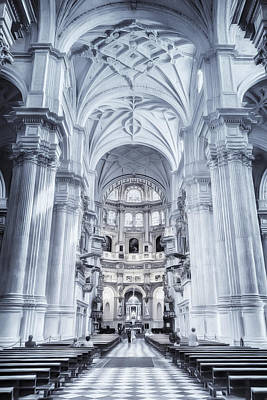 Landmarks Photograph - Granada Cathedral Interior by Joan Carroll