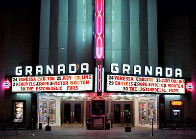 Photograph - Granada Marquee Dallas by Rospotte Photography