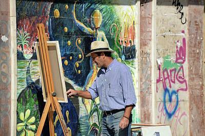 Photograph - Granada Painter by Harvey Barrison
