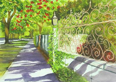 Wall Art - Painting - Granada Sidewalk by Terry Arroyo Mulrooney