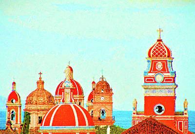 Digital Art - Granada Skyline by Dennis Cox
