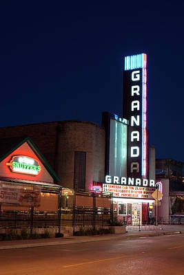 Photograph - Granada Theater Dallas 32417 by Rospotte Photography