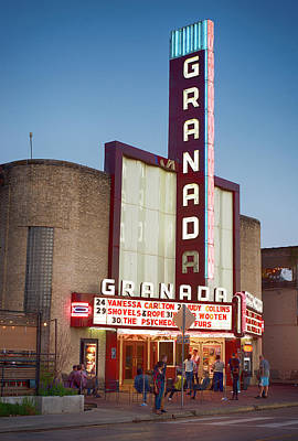 Photograph - Granada Theater Dallas 32517 by Rospotte Photography